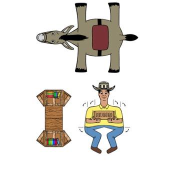 Biblioburro Spanish Paper Craft