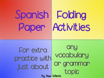 Spanish Paper Folding Activities