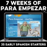Spanish Para Empezar Class Bell Ringer Editable Google Sli