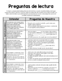 Spanish Parent Reading Resource - STAAR / Reading Assessment Question Stems