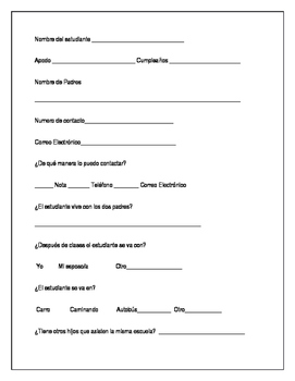 Spanish Parent Survey