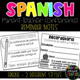 Spanish Parent Teacher Conference Reminders