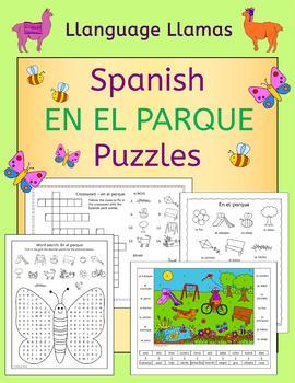 Spanish Park-en el parque-puzzles FREE