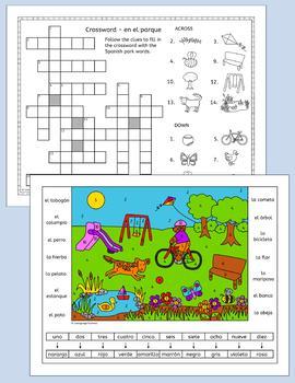 Spanish Park - en el parque - puzzles FREE