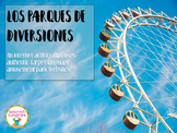 Spanish Vocabulary:  Parque de Diversiones Internet Activity