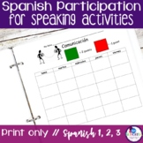 Spanish Participation for Speaking Activities