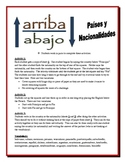 Spanish Nationalities  Partner Activities (Speak, Read, Listen, Read)