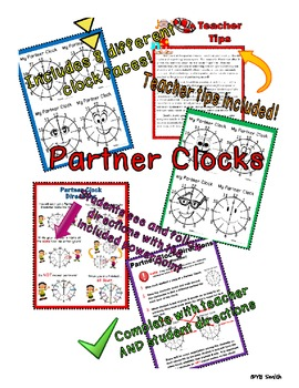 Partner Clocks for Pair Work SPANISH