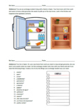 Spanish Partner Communicative Activity - Food and Grocery Shopping