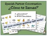 Spanish Partner Conversation: ¿Cómo te llamas? (introducti
