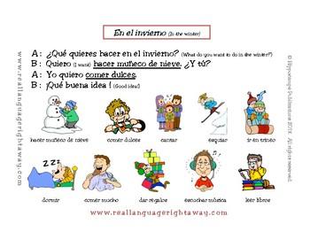 Spanish Partner Conversation - En el invierno