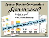 Spanish Partner Conversation: ¿Qué te pasa? (body parts/los partes del cuerpo)