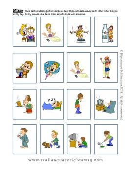 Spanish Partner Conversation - Todos los días (Daily routine)