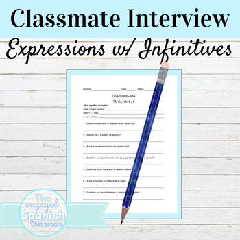 Spanish Partner Interview: Infinitive expressions with tener, venir, & ir