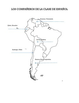 Spanish Partner Map - South America