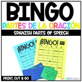 Spanish Parts of Speech BINGO game - Partes de la oración