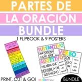 Spanish Parts of Speech Flip Book + Posters BUNDLE