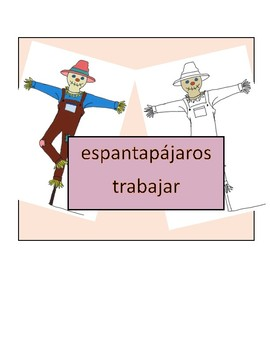 Spanish Parts of a Scarecrow Three Parts Cards
