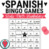 Spanish Body Parts - Las Partes del Cuerpo - Spanish Bingo Game