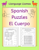 Spanish Parts of the Body - El Cuerpo - Crossword and Word
