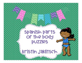 Spanish Parts of the Body Vocabulary Puzzles