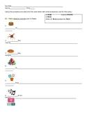Spanish Party Items & Tener Sentence Writing Realidades 1 - 5A