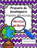 In Spanish   FREE Set / América del Norte {Proyecto de Investigación / GRATIS}
