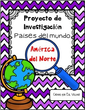 In Spanish | FREE Set / América del Norte {Proyecto de Inv