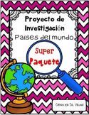 In Spanish   Países del mundo   BUNDLE  {Proyecto de Investigación}