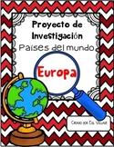 In Spanish   Países del mundo   Europa {Proyecto de Investigación}