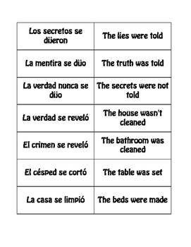 Spanish Passive Se Buzz Game