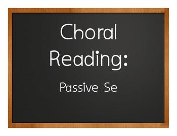 Spanish Passive Se Choral Reading
