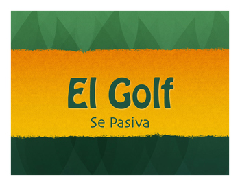 Spanish Passive Se Golf
