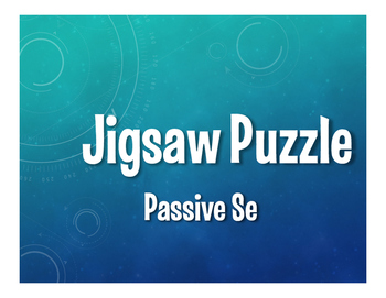 Spanish Passive Se Jigsaw Puzzle