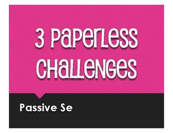 Spanish Passive Se Paperless Challenges