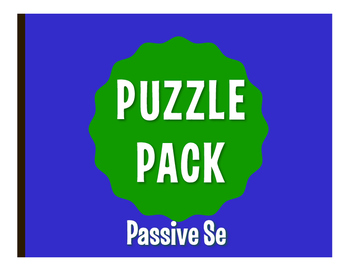 Spanish Passive Se Puzzle Pack