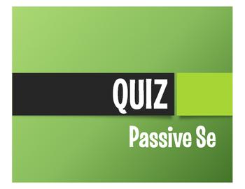 Spanish Passive Se Quiz