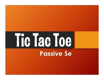 Spanish Passive Se Tic Tac Toe Partner Game