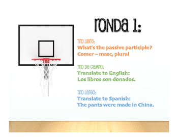 Spanish Passive Voice Basketball