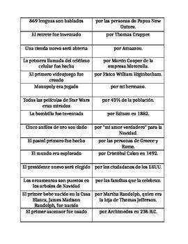 Spanish Passive Voice Fact Find