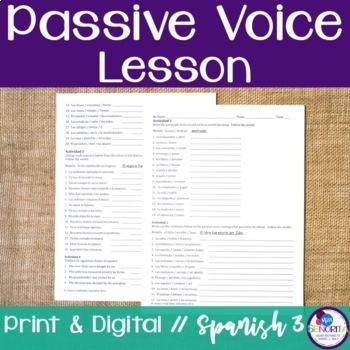 Spanish Passive Voice Lesson
