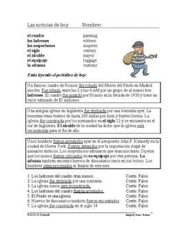 Spanish Passive Voice Reading: Las noticias de hoy / La voz pasiva