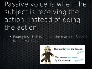 Spanish Passive Voice with Se PowerPoint Slideshow Presentation