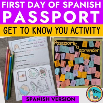 Spanish Passport Get to Know You First Day Activity