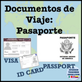 Spanish Passport Template and Visa