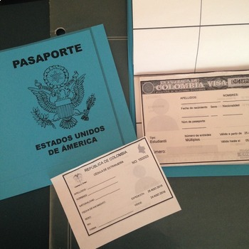 Spanish Passport Template And Visa By Spanishplans  Tpt