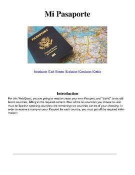 Spanish Passport WebQuest