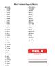 Common Spanish Names Activity