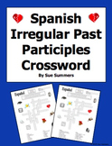 Spanish Past Participle Irregulars Crossword Puzzle and Image IDs