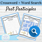 Spanish Past Participles Word Search and Crossword With An
